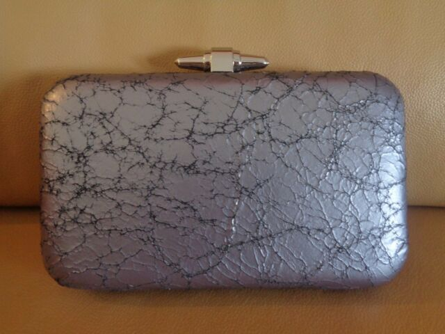 J CREW CRACKLED LEATHER MINAUDIERE CLUTCH,PURSE,BAG NWT #C3858