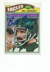1977 Topps #350 Bill Bergey Philadelphia Eagles Football Card Verzamelkaarten: sport Amerikaans voetbal