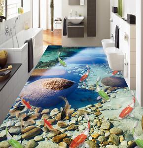 Carpa 3D Color Piedra Papel Pintado Mural Parojo Impresión de suelo 7 5D AJ Wallpaper Reino Unido Limón