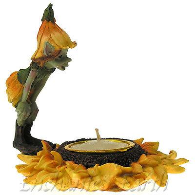 New Pixie & Sunflower tea Light holder / Magical pixie / Flower Holder/pixies