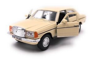 Mercedes-Benz-E-Class-W123-Beige-Model-Car-with-Desired-License-Plate-Scale-1-3