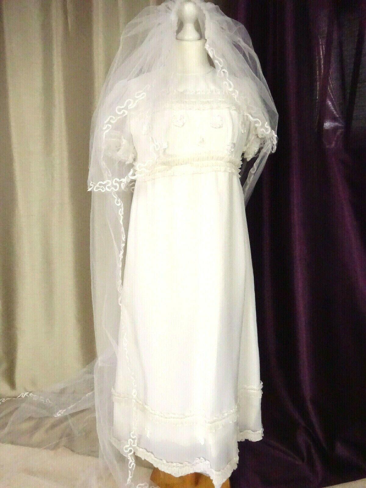 Robe de mariée Vintage 80'S Right Long Redhead Size FR38 US6 UK10