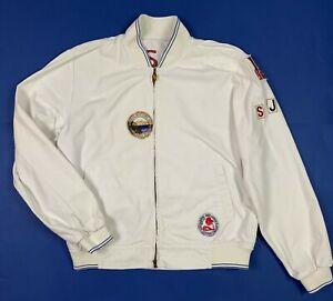 Sorbino-jeans-jacket-uomo-usato-XL-vintage-denim-giacca-bianco-giubbino-T5712