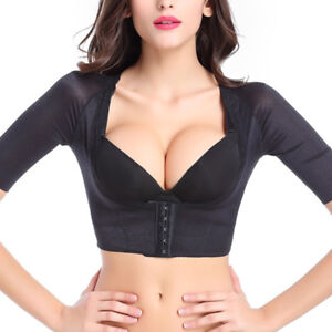 80da1ac52 Image is loading Women-Slimming-Arm-Shapers-Correct-Back-Posture-Support-