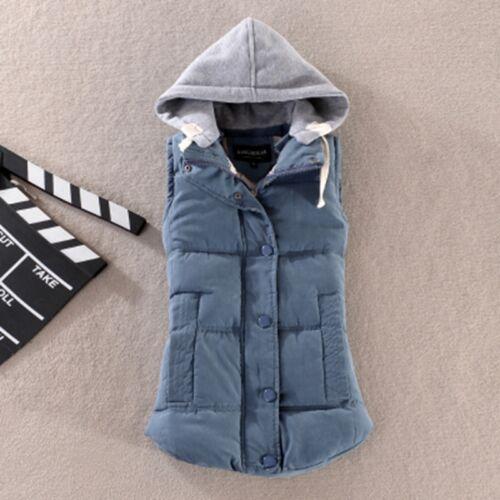 Warm Gilet Sleeveless Waistcoat Plus Size Women Winter Lady Vest Hooded Jacket