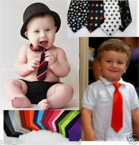 Cute Solid Color Satiny Child Elastic Pretied Neck Tie Girl/Boy Toddlers Wedding