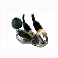 Shure SE425 In-Ear only Headphones Metallic Silver NEW