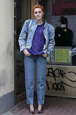 Pullover Donna Maglia Knitted Purple Viola Violet 80er True Vintage 80´s Women-mostra Il Titolo Originale Qualità E Quantità Assicurate