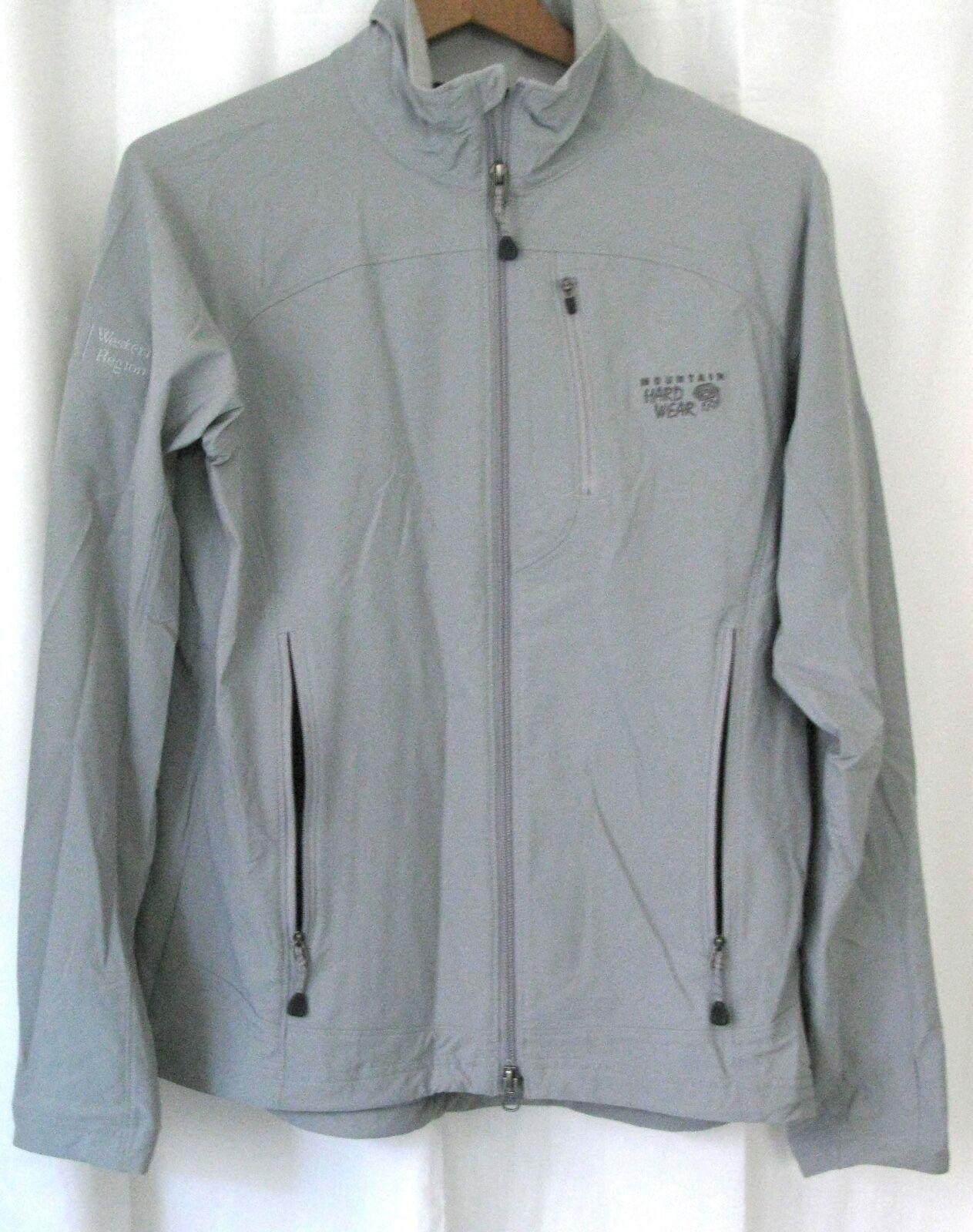 161864 Women's M MOUNTAIN HARDWEAR Grey Stretch Nylon Jacket EUC