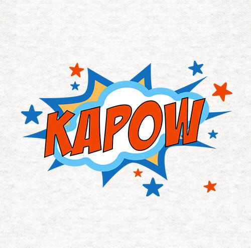 Upholstery Printed Craft Panel Super Hero Kapow words Cushion Fabric