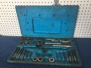 Snap-On-Blue-Point-TD9902A-SAE-Tap-and-Die-Set-Incomplete-USA-MADE