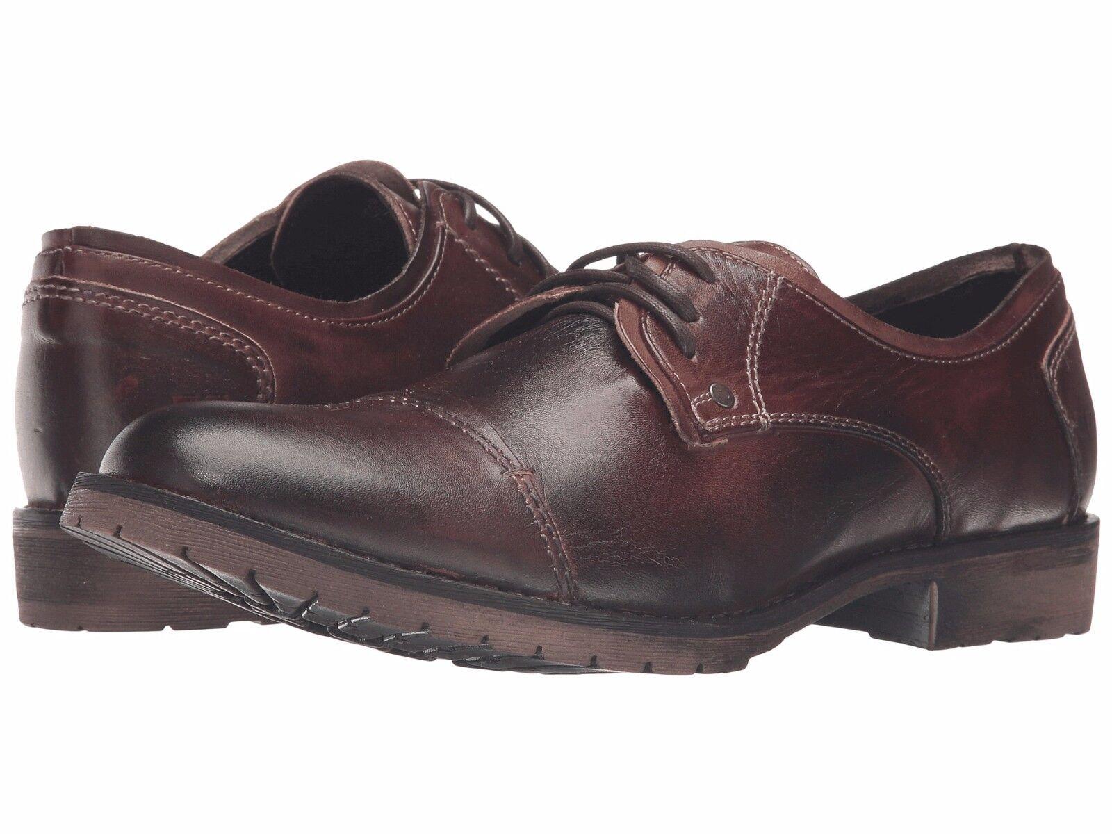 Men's Bed Stu Repeal Teak Rustic Leather Oxfords SZ 9.5 MSRP 150