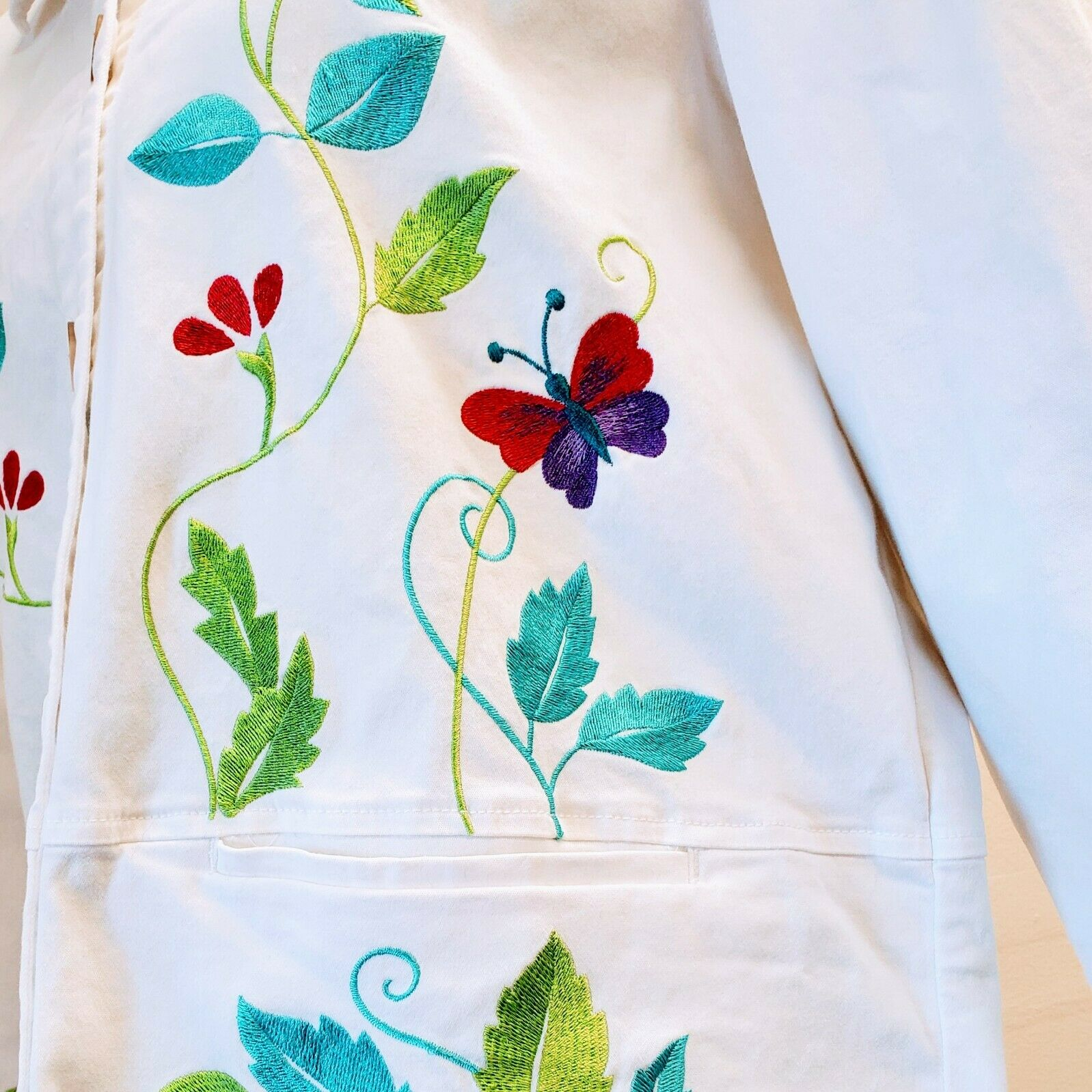 DENIM & CO. Embroidered Cotton Jacket please see … - image 7