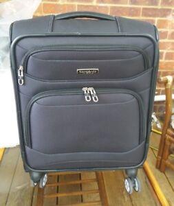 foto ufficiali miglior servizio nuovo design Samsonite stackit cabin size valigia Spinner in Nero | eBay