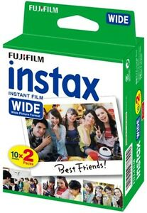 20 Prints Fuji Fujifilm Instax 200/210/300 Instant Color Print Wide Film 8/2019 by Fujifilm