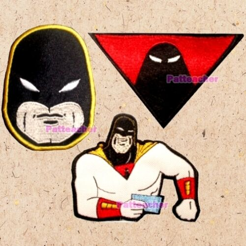 Lot of 3 Space Ghost Patches Suit Logo Zorak Coast to Dino Boy Head