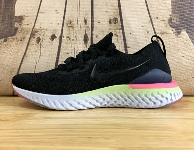 NEW Nike Epic React Flyknit 2 Black Sapphire AQ3243-003 Youth US 7 Y AUTHENTIC