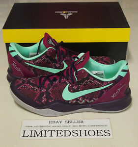 9e65b243f383 NIKE KOBE VIII 8 SYSTEM PIT VIPER 555035-502 PURPLE DYNASTY mine red ...