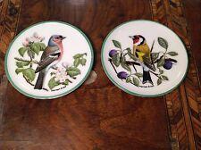 2 Vintage Coalport Miniature display Plates with Bird Designs by Norman Arlott