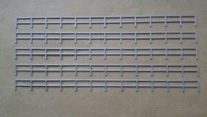 Lot-5-rambardes-grises-cloture-1-87-decor-train-diorama-compatible-Jouef-Faller