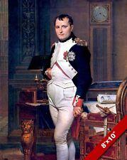 NAPOLEON BONAPARTE PAINTING FRENCH MILITARY WAR HISTORY ART REAL CANVAS PRINT