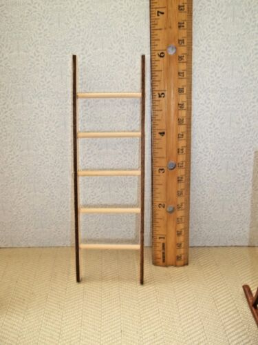 6 INCH LADDER WOOD DOLL HOUSE MINIATURE