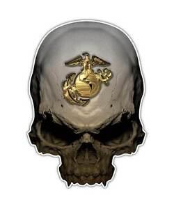 USMC Semper Fi Skull Camo Decal Vinyl Sticker 4 Stationery & Party ...