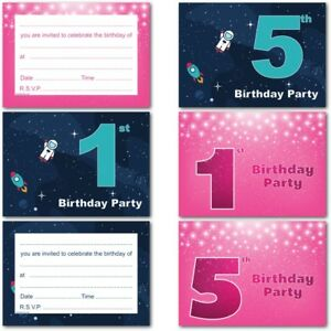 1st 2nd 3rd 4th 5th birthday kids childrens party invitations image is loading 1st 2nd 3rd 4th 5th birthday kids childrens filmwisefo