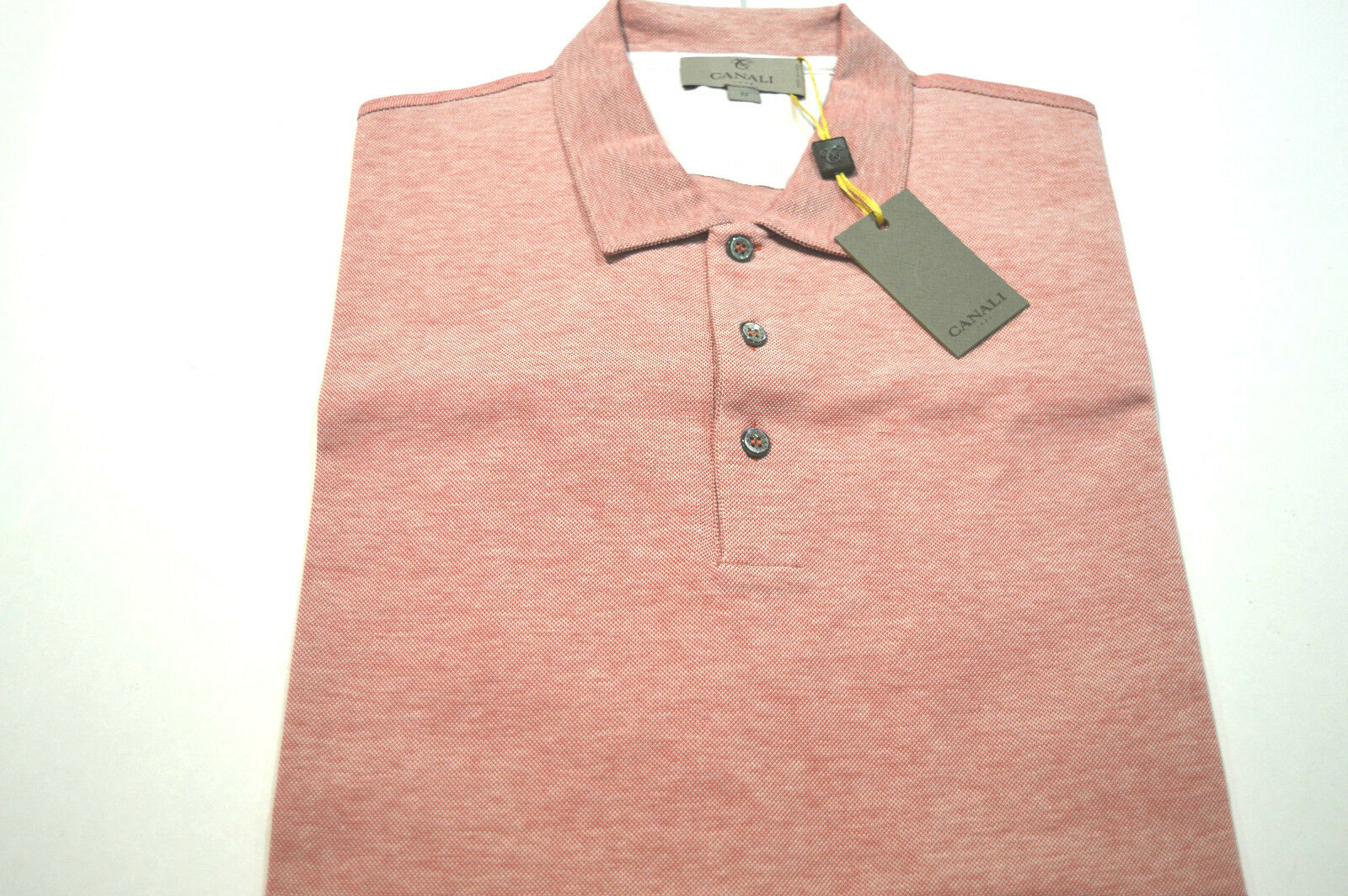 NEW  CANALI Polo  Short Sleeve 100% Cotton Größe XL Us Eu 54 Made in
