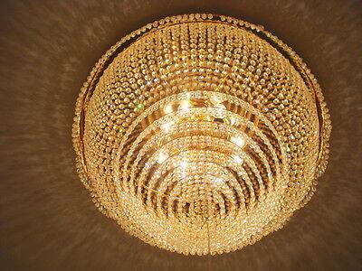 wunderschöner Kronleuchter  80 cm  Lüster Deckenleuchte Lampe mit Bleikristall