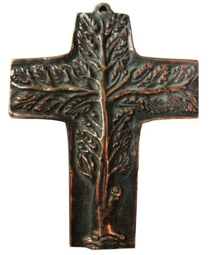 Bronzekreuz Lebensbaum Haussegen Hochzeit Kommunion 9 cm Cross Tree of Life