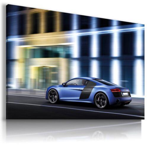 AUDI R8 BLUE Super Sport Cars Large Wall Canvas Picture ART AU529 MATAGA MATAGA