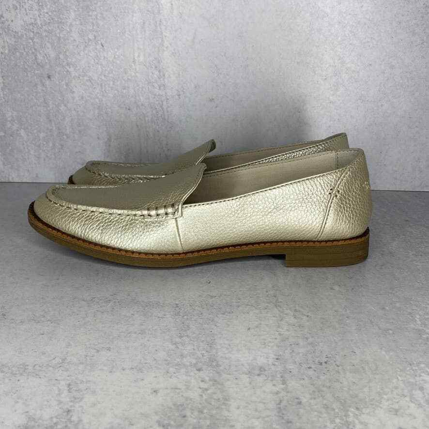 Sperry Top Sider Waypoint Smoking Slip Ons Loafer Women's Sz 7.5 Gold