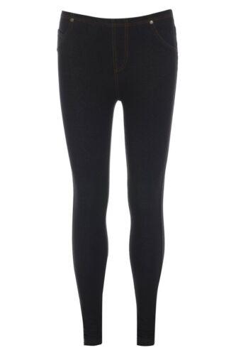 New Ladies Womens Stretchy Denim Look Skinny Jeggings Leggings Plus Size