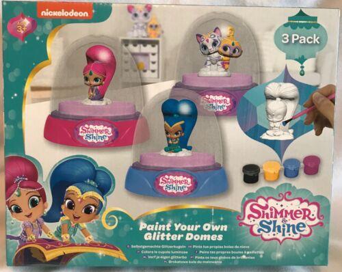 Nickelodeon-Shimmer /& Shine Peindre votre propre paillettes Dômes-Neuf
