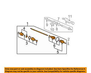 HONDA OEM 05-06 Odyssey Front Drive-CV Shaft Axle Assy 44305SHJA01