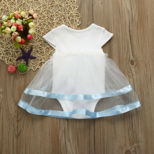 Pretty Baby Girls Infant Birthday Tutu Clothes Party Jumpsuit Princess Dress Hot