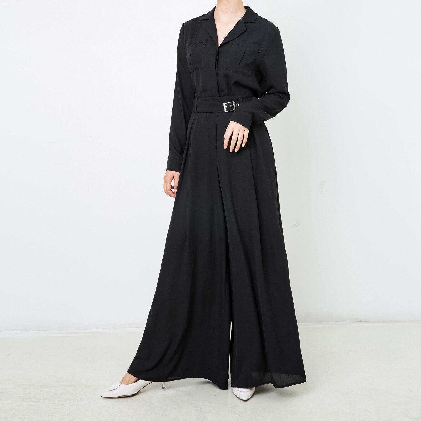 New Muslim Women Ladies Wide Leg Jumpsuit Long Sleeve Party Romper Size XS-XXL
