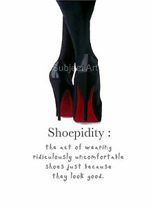 902ef0fdcd7 Image is loading CHRISTIAN-LOUBOUTIN-Black-Shoes-ART-PRINT-Shoepidity-Quote-