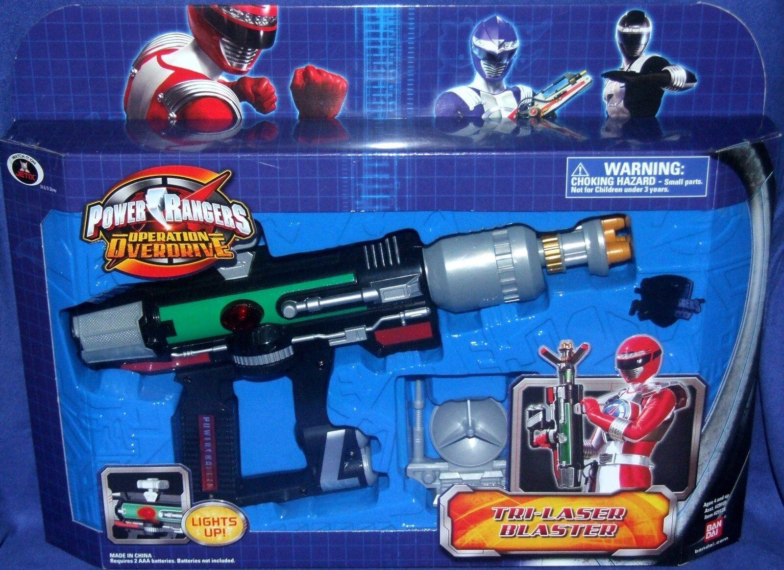 Power Rangers Operation Overdrive electrónica Tri Laser Blaster nuevo sello de fábrica