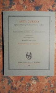 Nicolai-De-Cusa-Acta-Cusana-Band-1-Lieferung-1-1401-1437-Mai-17-1976