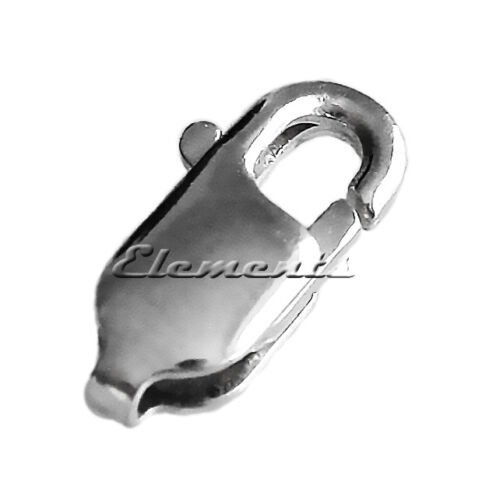Solid .925 Sterling Silver STRONG LOBSTER CLAW TRIGGER CLASP Fastening
