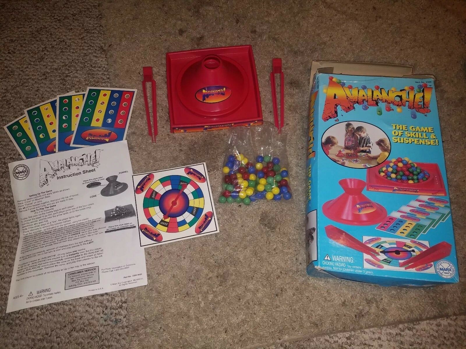 Avalanche  Game Of Skill And Concentration 1997 Marx Toys Complete