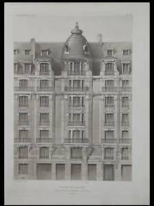 PARIS, 90 RUE DE GRENELLE - 1907 - 2 PLANCHES ARCHITECTURE, DEGLANE