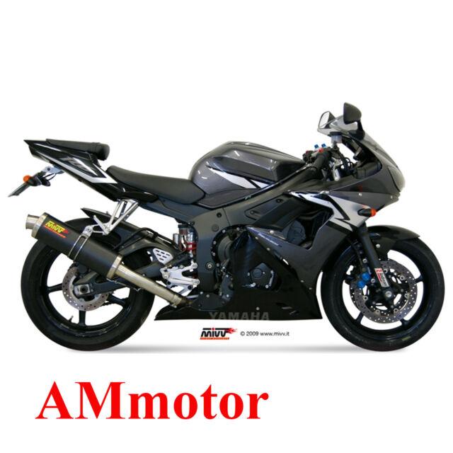 Auspuff Motorrad Mivv Yamaha Yzf 600 R6 2004 04 Endtopf Oval Carbon