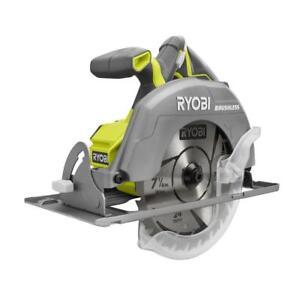 Ryobi p508 one 18v brushless 7 14 circular saw w blade ebay stock photo greentooth Choice Image