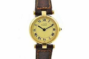 Vintage-Must-De-Cartier-Vermeil-Quartz-925-Gold-Plated-Ladies-Watch-1492