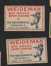 ancienne étiquette  allumettes  Suède    BN3505 Weideman 2
