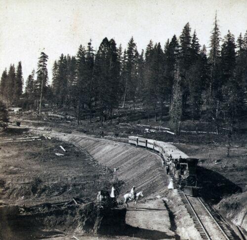 """railroad Alfred Hart Train Sierra California antique 12/""""x12/"""" Photograph"""