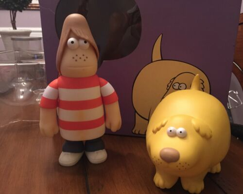 Amos Toys JAMES JARVIS RUSTY AND DWORKIN Vinyl Figures USED. RARE.